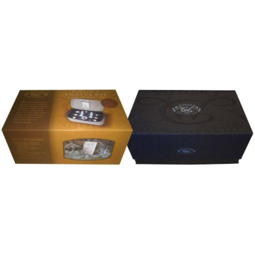 Canvas Whisky Travel Kit Box