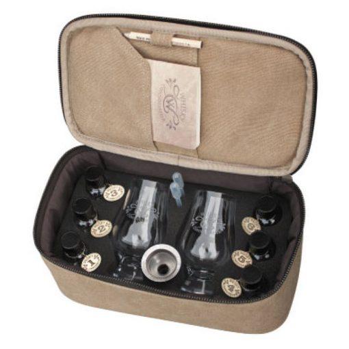Canvas Whisky Travel Kit Inside