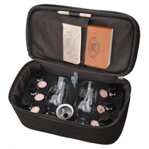 Deluxe Leather Whisky Travel Kit Inside